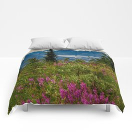 Alaskan Glacier & Fireweed Comforters