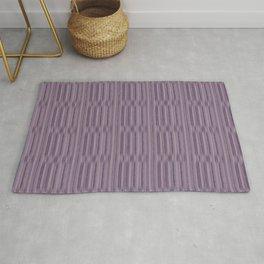 Monsoon Lilac & Vintage Lavender Stripes (Faux Texture) Rug