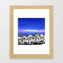 Mount Snowdon Wales Framed Art Print