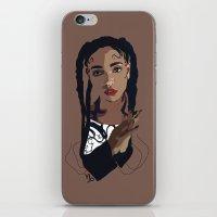 fka twigs iPhone & iPod Skins featuring FKA Twigs by Anna McKay