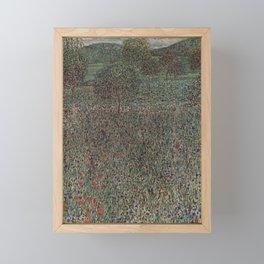 Gustav Klimt - Blühendes Feld Framed Mini Art Print