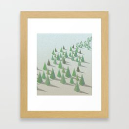 Forest & Pyramids Framed Art Print