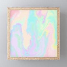 Iridescent Paint Framed Mini Art Print