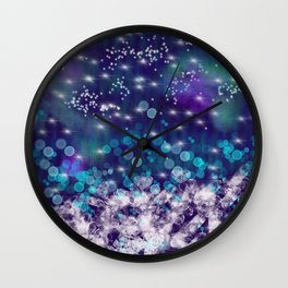 Star and Diamond Rain Wall Clock