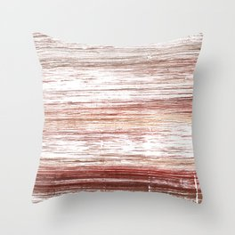 Striped watercolor Throw Pillow