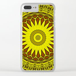 Temple of the sun mandala Clear iPhone Case
