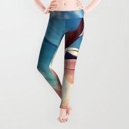 Super Hot Hentai Girl In Bikini Relaxing On Beach With Spread Legs Ultra HD Leggings