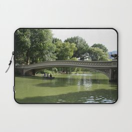 Bow Bridge And Rowboat NYC Laptop Sleeve