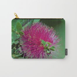 Neon Pink & Green Floral Carry-All Pouch