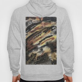 Gold Copper Neutral Metallic Abstract Hoody