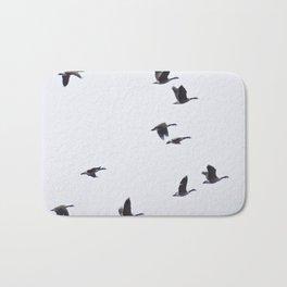 Birds -Scandinavian Minimalist Art Bath Mat
