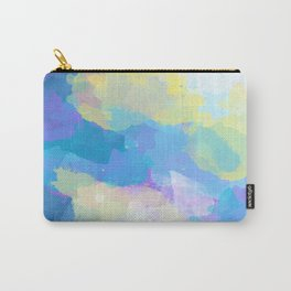 Colorful Abstract - blue, pattern, clouds, sky Carry-All Pouch