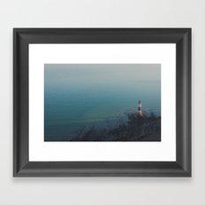 White Cliff Framed Art Print
