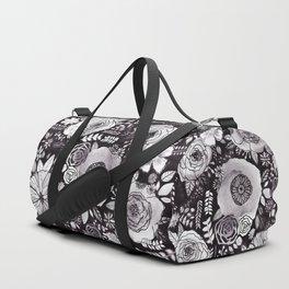 Black&White Floral Mix Duffle Bag