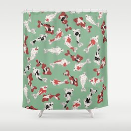 Koi pond #3 Shower Curtain