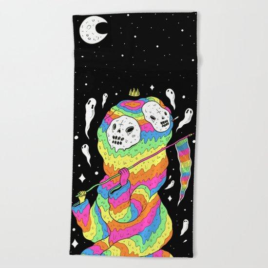 Slimey Space Reaper Beach Towel