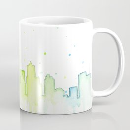 Seattle Skyline Watercolor Space Needle Painting Coffee Mug