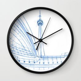 BluePrints | CNTower - Toronto Wall Clock