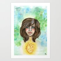 Green Eyes and a Heart of Gold Art Print