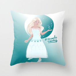 Elsa princess with Butterfly Throw Pillow