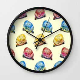 Tuk Tuk Rainbow Wall Clock