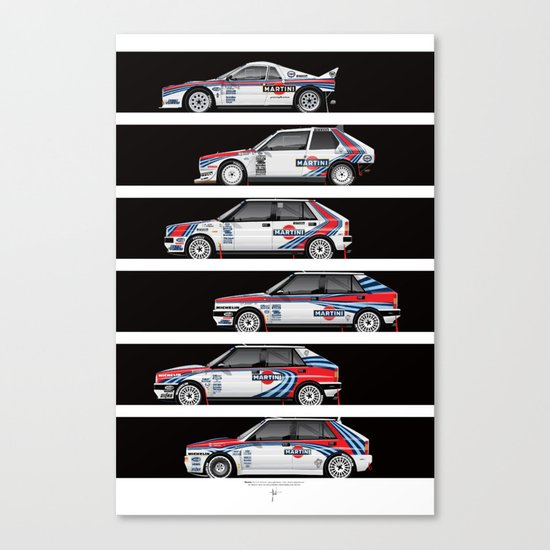 Lancia Martini Rally Cars Canvas Print