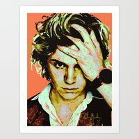 kris tate Art Prints featuring Tate by Aubrey Meeks