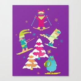 Rad Cats Shred Canvas Print