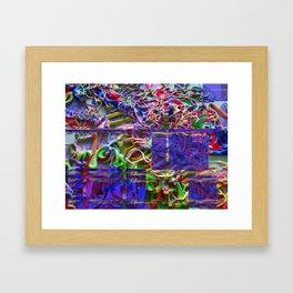 Alien Puke Glitch Framed Art Print