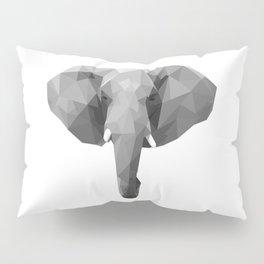 Polygonal elephant portrait Pillow Sham