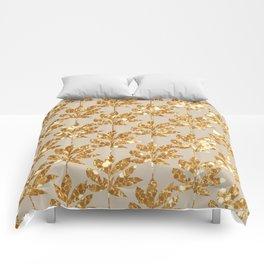 Gold leaf pattern Comforters