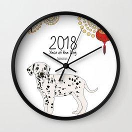 Year of the Dog - Dalmatian Wall Clock