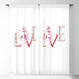 Love is the answer Blackout Curtain