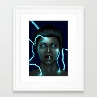 lightning Framed Art Prints featuring Lightning by Egberto Fuentes