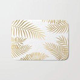 Gold palm leaves Bath Mat