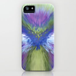 At The Speed of Blue iPhone Case
