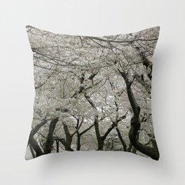 """""""Crab Apple and Sakura"""" Throw Pillow"""