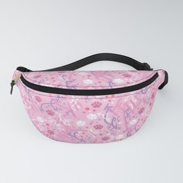 Strawberry Smoothie Paw Prints Fanny Pack