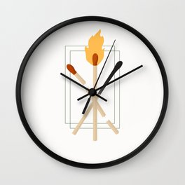 Strike a Match Wall Clock