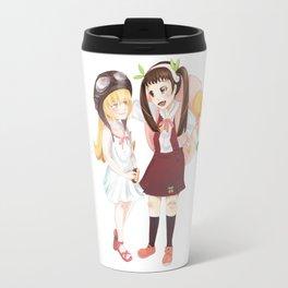 Hachikuji and Shinobu Travel Mug