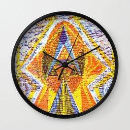Mayan heaven Wall Clock