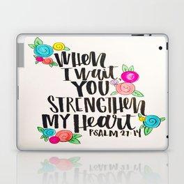 Psalm 27: 15 When I Wait You Strengthen My Heart Laptop & iPad Skin