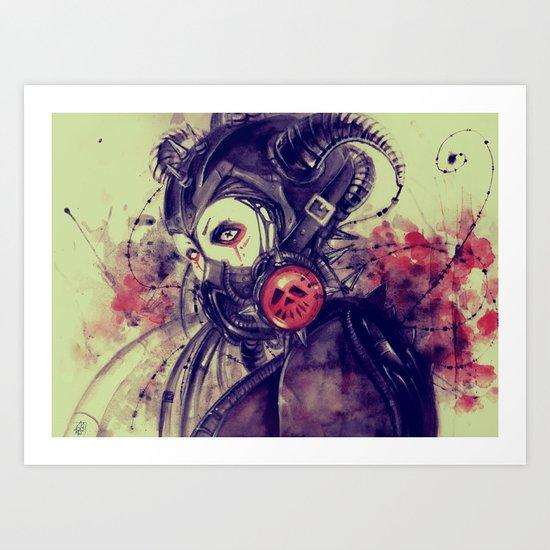 Cyber girl Art Print