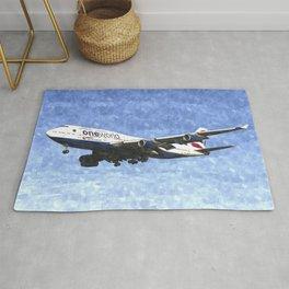 One World Boeing 747 Art Rug