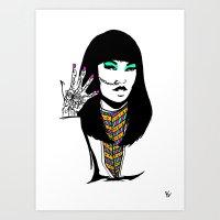 henna Art Prints featuring Henna by rbengtsson