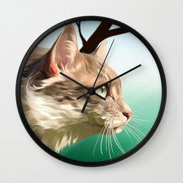 Destin, My Beautiful Kitten Wall Clock