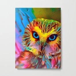 Colorful Owl Metal Print