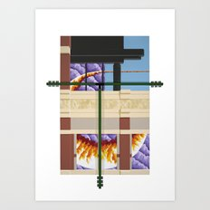 Old Town Sun Cloud Art Print