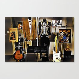 Stevie Ray Vaughan Exhibit - Family Style - Painting Canvas Print