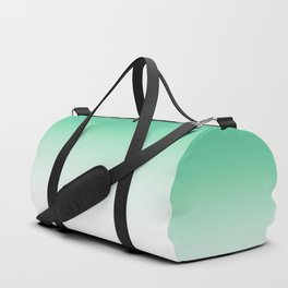 Modern forest green white gradient pattern Duffle Bag